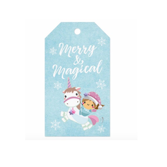 Birthday Magical Gift Tags Unicorn Ornaments Wood Personalized Christmas Ornaments