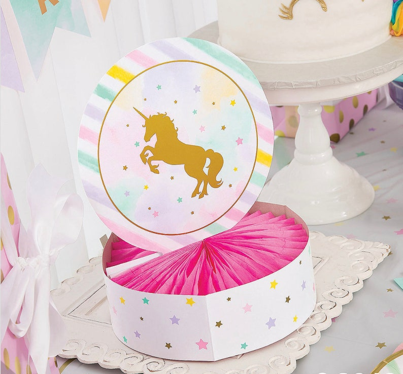 Unicorn Birthday Magical Unicorn Favors Unicorn Birthday Favors Magical Unicorn Party in a Box Unicorn Birthday Invitations