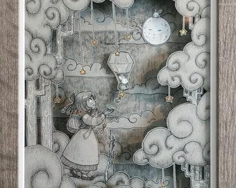 To the Moon - Hanbok Series - Paper Art