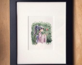 Yukata Girl - Original Painting
