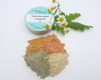 Face Mask Lavaerde - for oily skin and combination skin - vegan, plastic-free and without palm oil