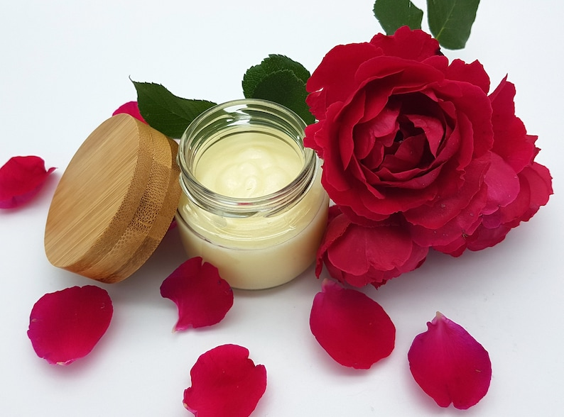 Rose Hand Balm  very rich for dry skin  vegan without palm image 0