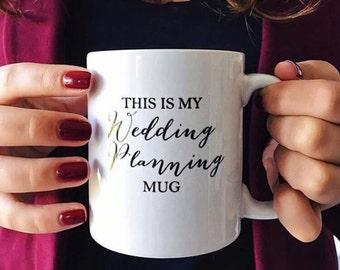 C'est mon mariage planification Mug mariage Mug mariage cadeau mariage planification mariée Mug blanc café Mug blanc en céramique tasse tasse de déclaration
