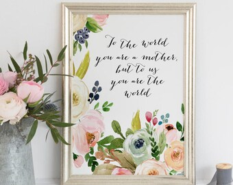 PRINTABLE Art Mothers day Gift Mothers Day art Print Mothers Day Wall Decor Happy Mothers Day Printable Mothers Day Quote floral mothers day