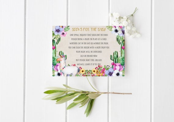 Books for the baby llama Llama Baby Shower Details Card Watercolor Floral Baby shower Cactus Floral Invitation Gold Glitter Baby Shower