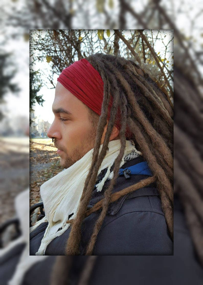 Rot Stirnband Fur Manner Kopf Tragen Dread Wrap Kopf Schal Dreads Dreadlock Zubehor Rot Kopfbedeckungen Fur Manner Burning Man Festival