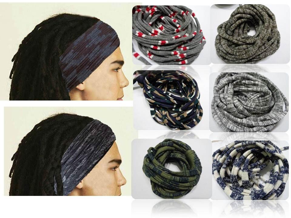 Mens Headband Stripes Headband Dreadband Men Dreadlock Wrap  28aed2749f6