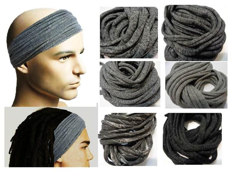 Mens Headband Dreadband Mens Hair Accessory Dreadlock Wrap  b4cdf2630f4