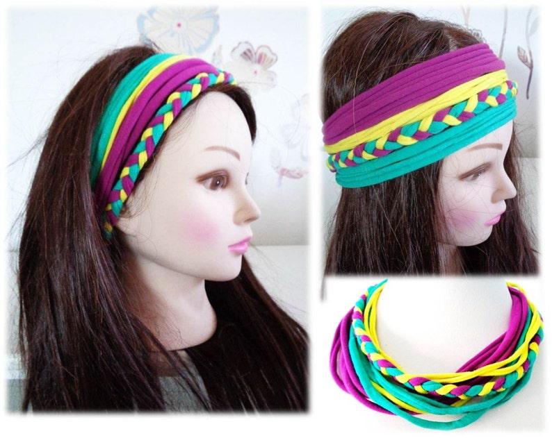 6e87f2e653373d Bunte Stirnband Gypsy Stirnband geflochtenes Stirnband   Etsy