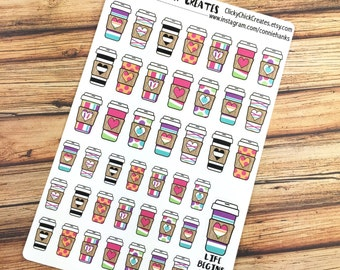COFFEE! Life begins after coffee!  PLANNER STICKERS! Perfect for coffee dates or just a little more color! {#160620}