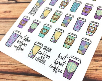 COFFEE! Life begins after coffee! But first coffee! PLANNER STICKERS! Gelato Dreams Perfect for coffee dates or a bit more color! {#160132}