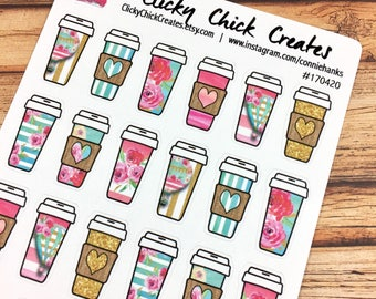 COFFEE! Life begins after coffee! But first coffee! PLANNER STICKERS! French Riviera Perfect for coffee dates or a bit more color! {#170420}