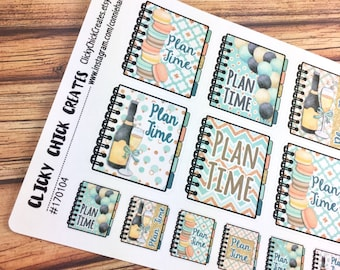 PLAN TIME Planner Stickers! CHEERS - Scheduling planning time is a must for planner girls! {#170104}