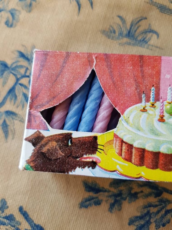Darling Antique French Tiny Birthday Anniversaire Candles Vintage Noel,Bougies,Publicity & Advertising Graphics