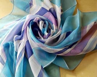Divine Vintage French Paris Yves Loudin Signed Silk Scarf-Divine Colour  Palette 100% Pure cf652341f19f