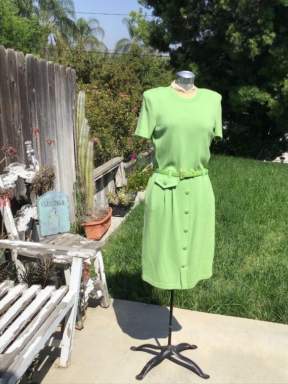 St. John Marie Gray Sweater Dress - Never Worn - B