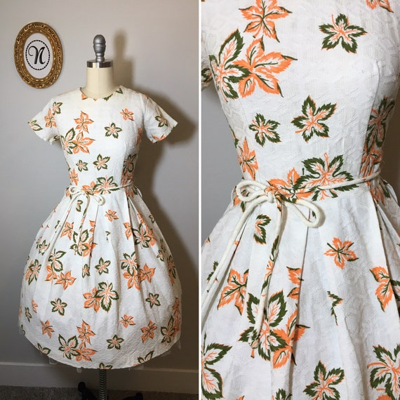 1950s vintage cotton dress
