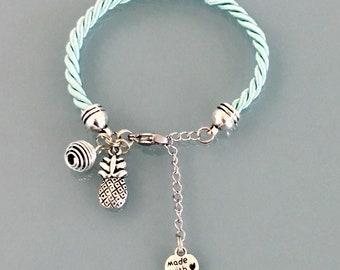 Bijoux Phosphorescent bracelet phosphorescent vert avec pendentif trèfle, bijoux, bracelet