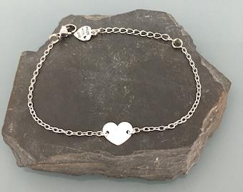 Heart silver bracelet, woman bracelet, gift idea, jewelry gifts, heart jewel, silver bracelet, heart bracelet, silver jewel