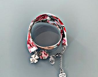 Liberty floral bracelet, Floral Diffuser, Flower Diffuser Bracelet, liberty fabric, perfume diffuser, Essential oils Bracelet, gift