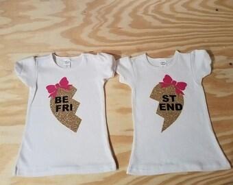 Best Friends Broken Heart Vinyl T-Shirts