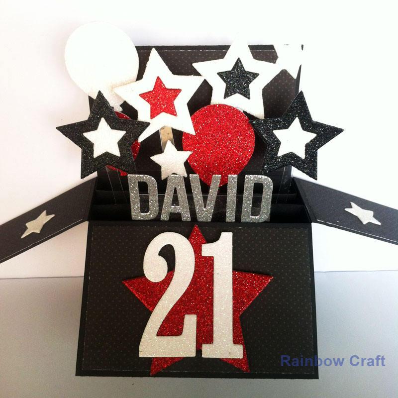 21st Happy Birthday Card NAME & Age Editable 21st Birthday