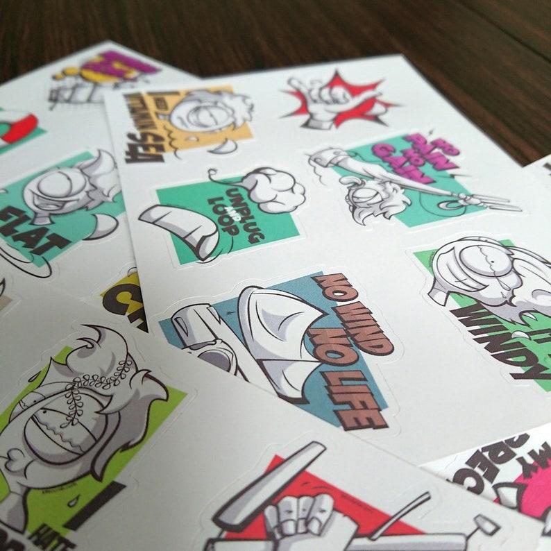 Kitesurfing stickers Durable and waterproof. for board helmet etc glass laptop Bundle of funny kitestickers
