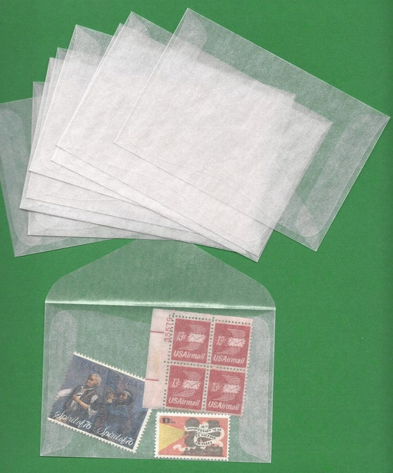 10 New 4 Glassine Envelopes Acid Free Archival Safe Craft Etsy