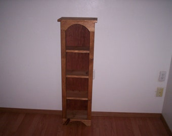 Chimney Bookcase, Tall Wood Cabinet