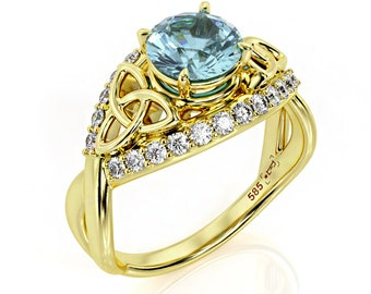 a7258f97624 Aquamarine engagement ring gold