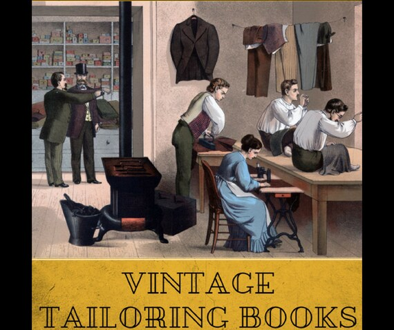 Mens Tailoring Books Suit Fitting Repair Fashion Clothes Etsy