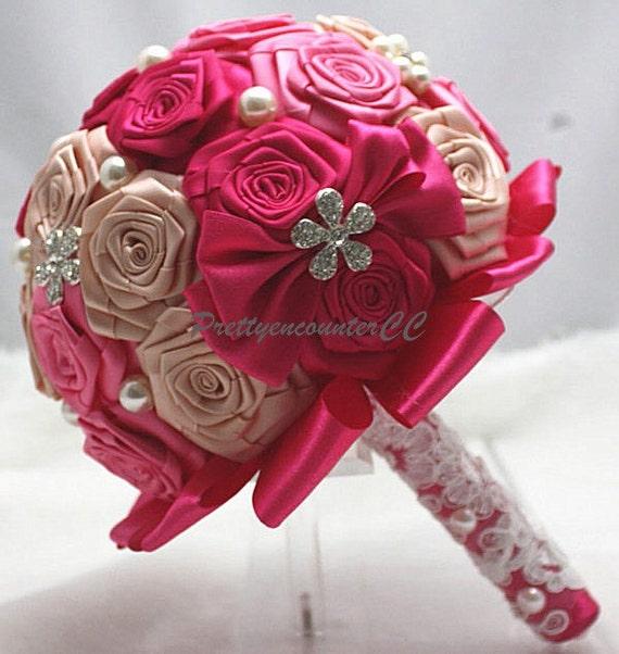 Handgemachte Blumen Rote Rosen Hochzeit Bouquet Perlen Strass Etsy