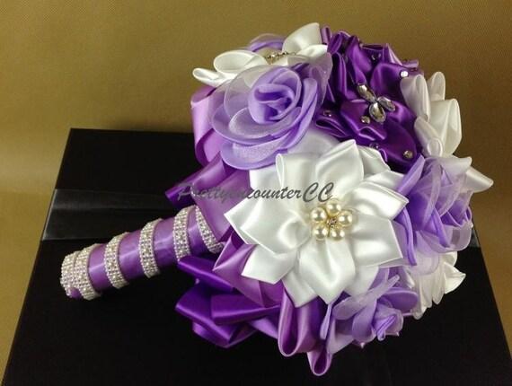 Lavendel Strauss Hochzeit Blumen Seide Blumen Handmade Blumen Etsy