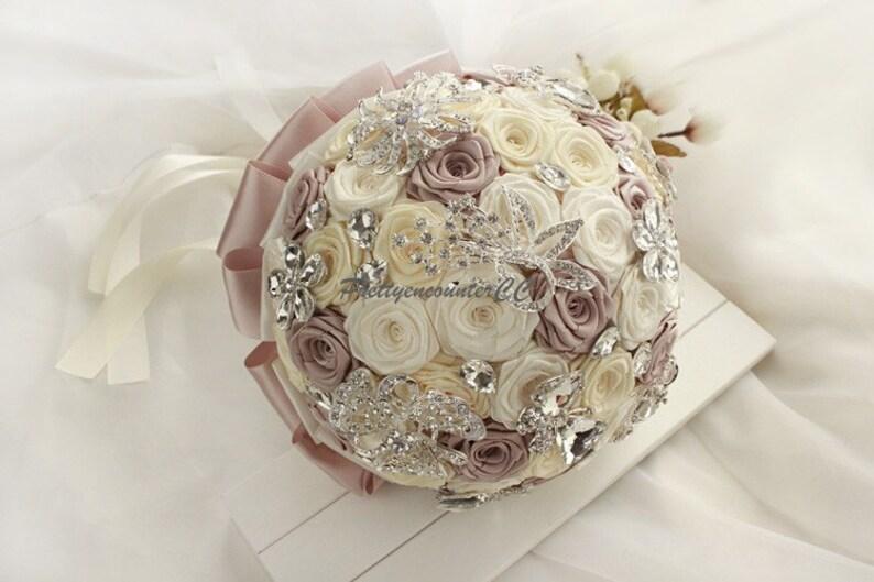 dd02d6a21906 Matrimonio meraviglioso Bouquet avorio Champagne Rose oro con