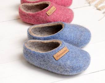 aed891dc402 Personal felt baby slippers- felted kids slippers- wool baby clogs- kids  felt shoes- wool slippers for children- toddler slippers