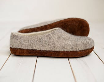 0471bbca8c9d Home wool slippers- felted slippers- wool slippers- woman wool slippers-  wool clogs- indoor warm shoes- natural slippers- boiled wool clogs