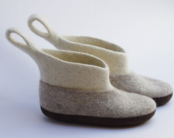 felted slipper- wool boots- felted boots- wool boots for women- house shoes-home slippers- slipper boots- women slippers