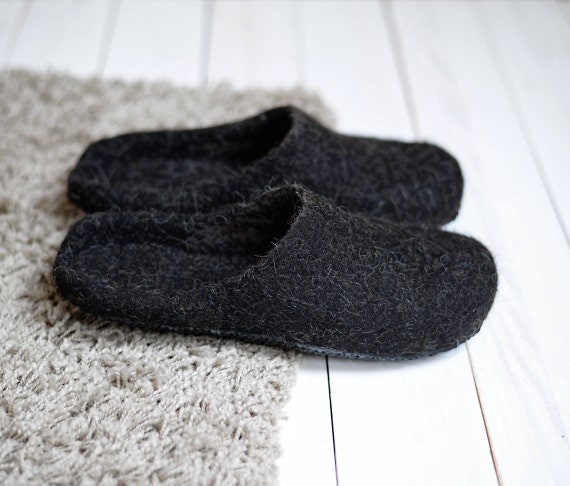 437df58d73d13 felted slippers - felted wool slippers - boiled wool slippers - slippers  women - felt slippers women - house slippers