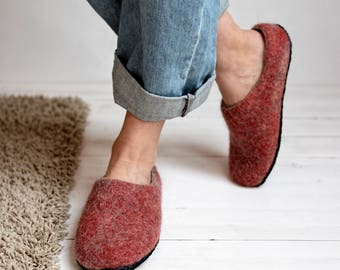 felted slippers- felt slippers woman- felt slippers- boiled wool slippers- women slippers- wool slippers