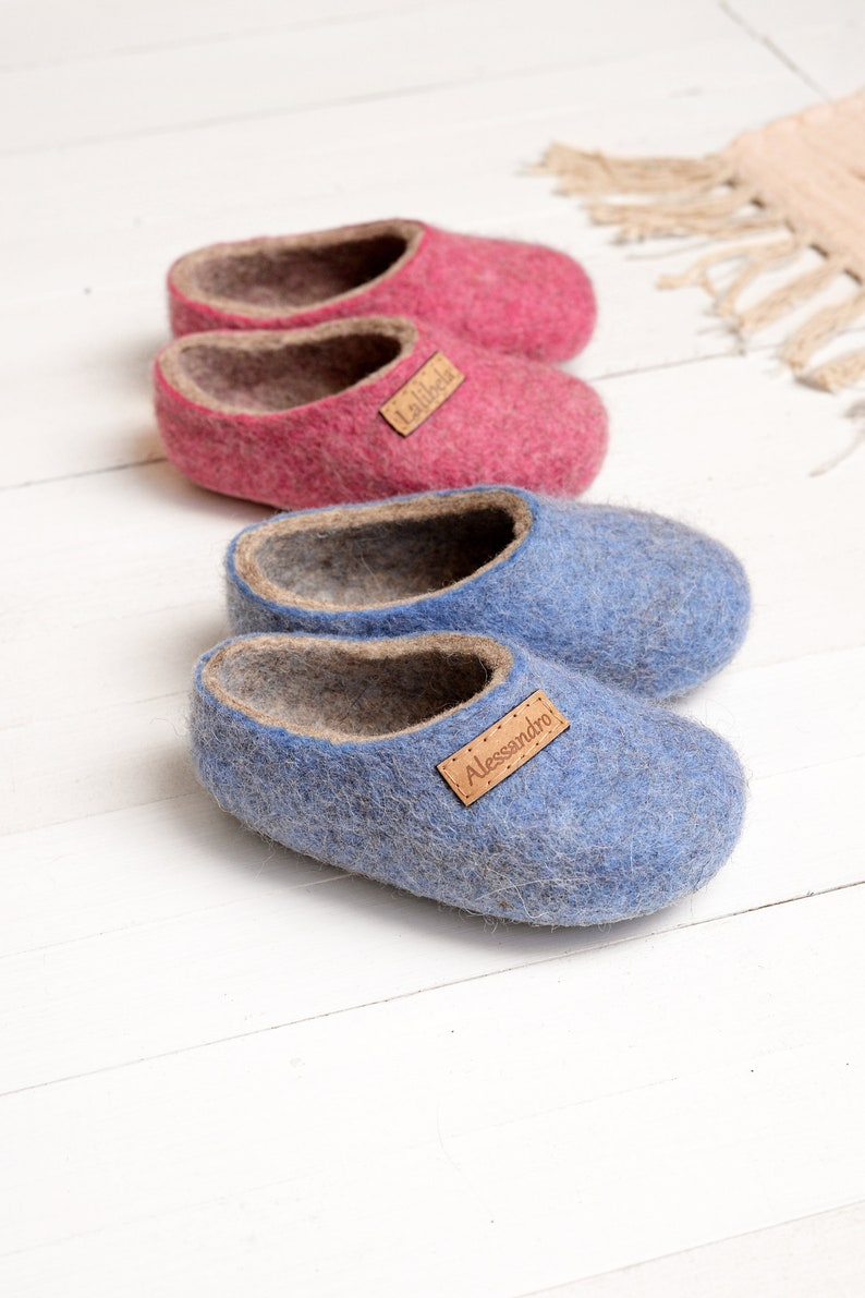 ae0fb6471d16e Personal felt baby slippers- felted kids slippers- wool baby clogs- kids  felt shoes- wool slippers for children- toddler slippers
