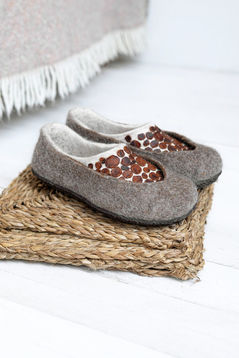 695ac6281de Felted slippers with customizable sole