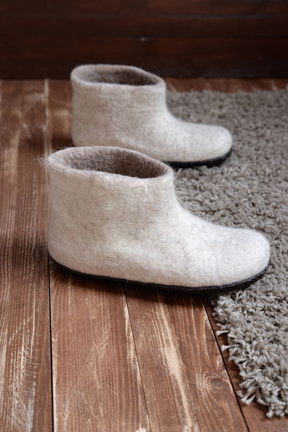 boots with Ankle felt boots Warm Warm sole soft slipper Felt shoes friendly slippers house Hygge women Eco boots for wool shoes OtOxTqr
