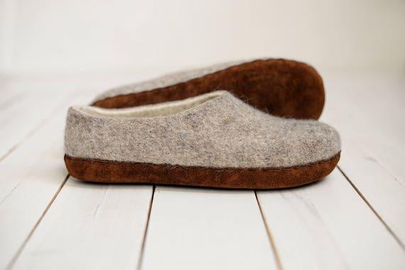 pretty nice 4b72d 30efb Casa Lana pantofole - feltrata pantofole pantofole-lana-donna lana  pantofole in lana zoccoli-lana cotta coperta calda naturale scarpe  pantofole - ...