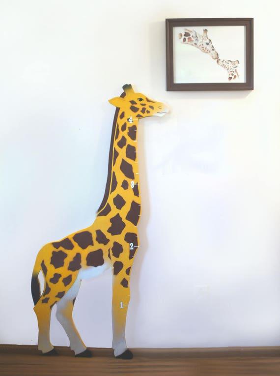 Wood Giraffe Growth Chart Giraffes Kid Room Baby Boy Baby Etsy