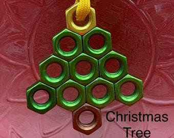 Hex Nut Christmas Ornaments