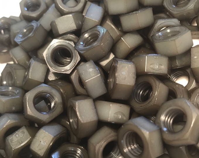 Gray colored nylon hex nuts 5/16-18