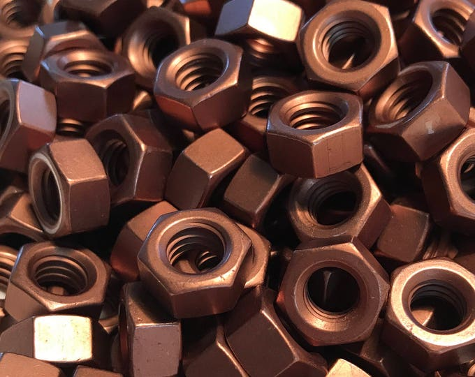 Brown Anodized Colored Aluminum Hex Nut 5/16-18