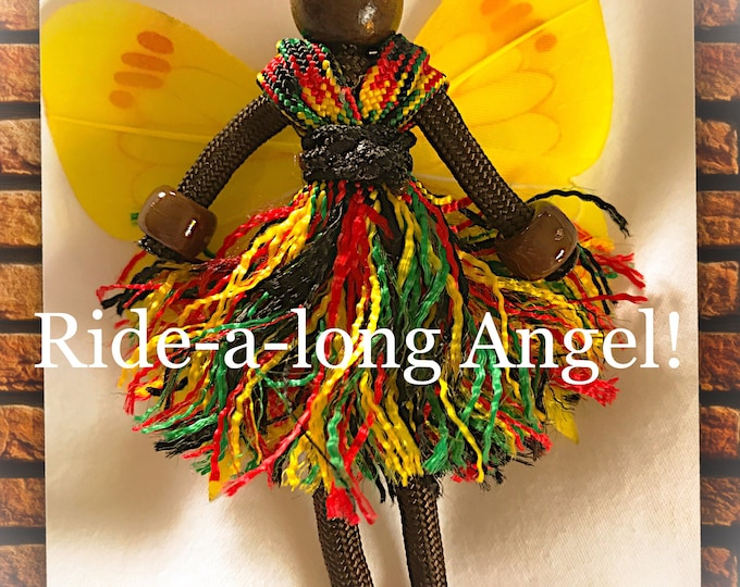 Paracord Buddy Ride-a-long Angel Fairy Reggae Colored Ornament