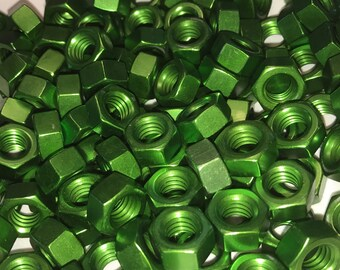 Green Anodized Colored Aluminum Hex Nut 5/16-18