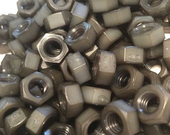 Gray colored nylon hex nuts 5/16-18